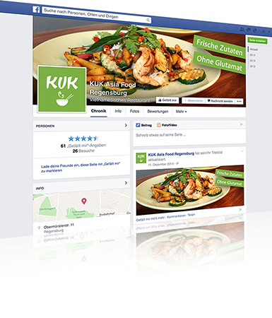 Social Media und Online-Marketing - KUK Asia Food Regensburg